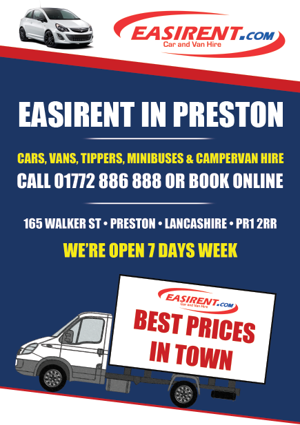 PRE FLYER Easirent Van Hire Preston | Car Hire Preston