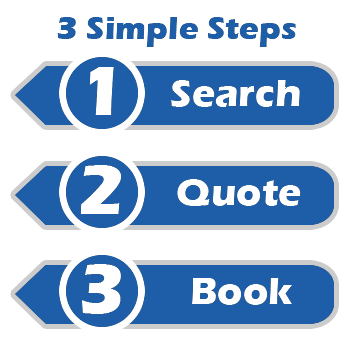 Your Online Booking in 3 Simple Steps