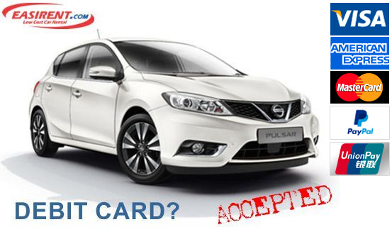 Debit Card Car Rental UK