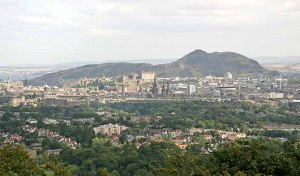 (view of Edinburgh from Corstorphine Hill)