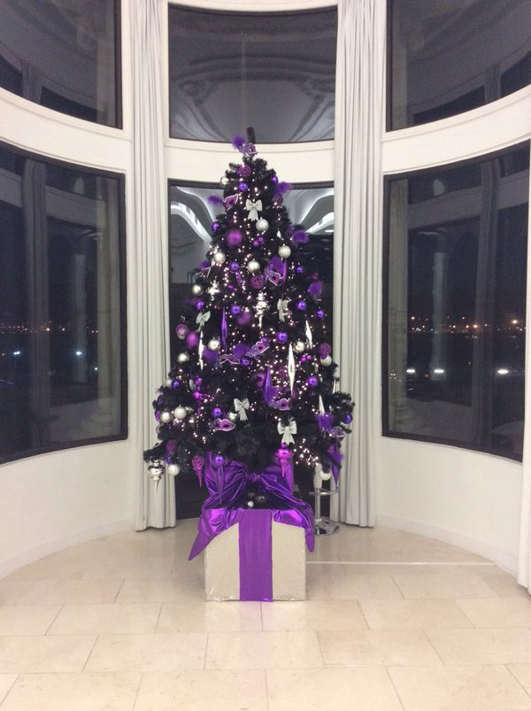 One of the Christmas trees in the Royal Liver Building.