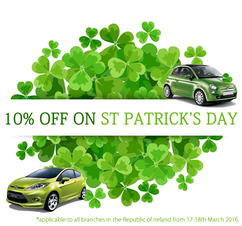 st patricks day car hire
