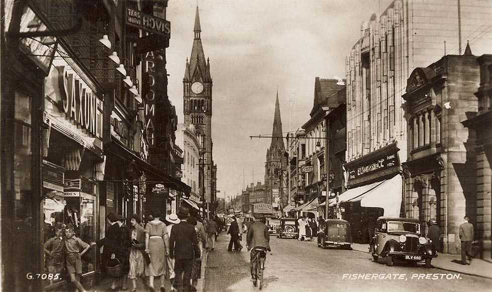 Lancashire, Fishergate in Preston c1940's