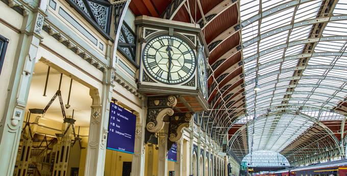 Inside Paddington Station, London