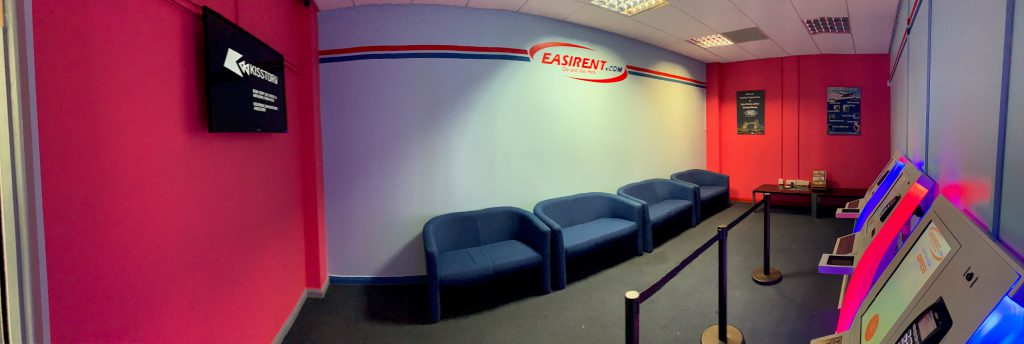 The Customer Waiting Room at Easirent Car Hire Heathrow Airport